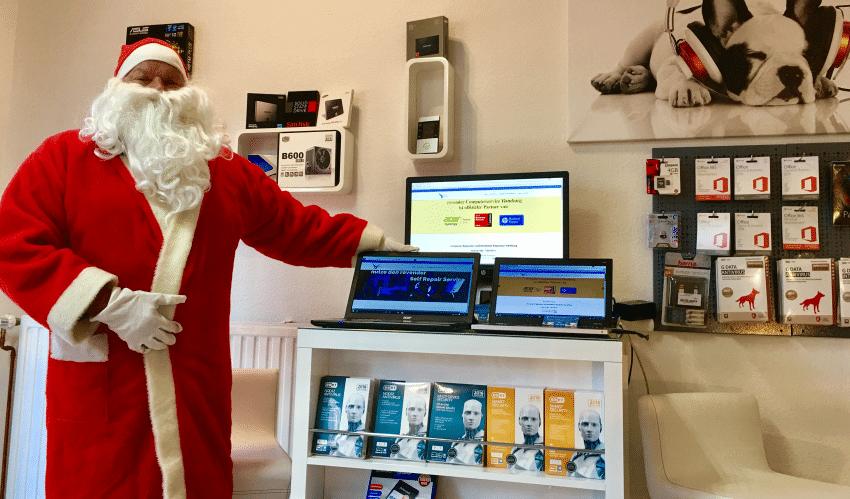 Weihnachtsmann zu Besuch