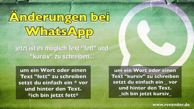Änderung bei WhatsApp